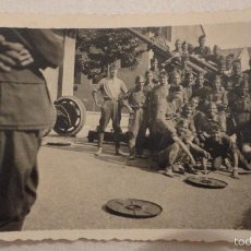 Militaria: ANTIGUA FOTOGRAFIA DE GRUPO DE MILITARES.PERIODO GUERRA CIVIL?. Lote 59460800