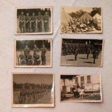 Militaria: LOTE DE 11 FOTOS ANTIGUAS MILITARES Y DE FAMILIA - AÑOS 40 Y 50. Lote 59615011