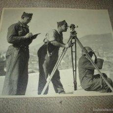 Militaria: GUERRA CIVIL, ARTILLERÍA NACIONAL ? FOTOGRAFÍA ORIGINAL GRAN FORMATO 30X24. SELLO PHOTO CLUB, BURGOS. Lote 59702535