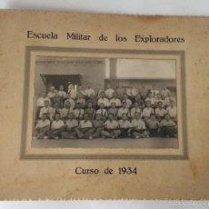 Militaria: FOTOGRAFÍA FOTO. ESCUELA MILITAR DE LOS EXPLORADORES (BOY SCOUT) CURSO DE 1934. REPUBLICA.. Lote 59980499