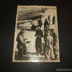 Militaria: AVILA GUERRA CIVIL FOTOGRAFIA AERODROMO LEGION CONDOR AGENCIA DE PRENSA RUSA. Lote 60005751