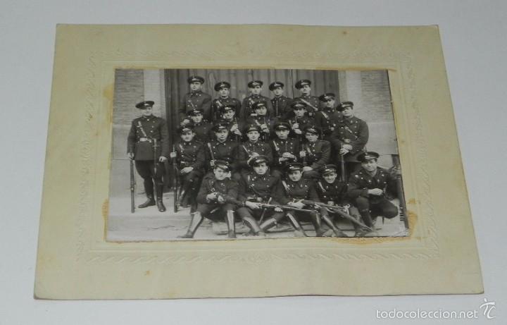 FOTOGRAFIA DE COMPAÑIA DE INGENIEROS DE FERROCARRIL, MIDE 24 X 19 CMS. (Militar - Fotografía Militar - Otros)