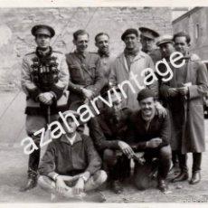 Militaria: ARANJUEZ,1934, GRUPO DE OFICIALES, CABALLERIA, REGULARES,ETC...146X98MM. Lote 60402059