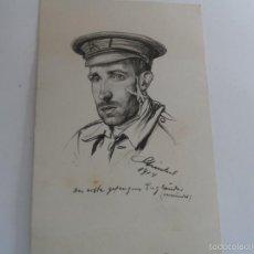 Militaria: POSCARD BOCETO SOLDADO INGLES. NAMUR-BELGICA. I GUERRA MUNDIAL. Lote 60516659