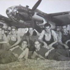 Militaria: FOTOGRAFÍA PILOTO AVIACIÓN. HEINKEL HE 111 TABLADA. Lote 60777575