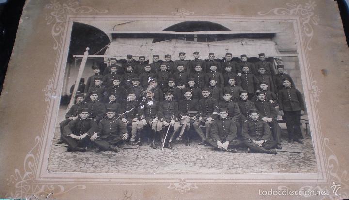 ANTIGUA GRAN FOTO REGIMIENTO ARTILLERIA ALFONSINO (Militar - Fotografía Militar - Otros)