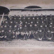 Militaria: ANTIGUA GRAN FOTO REGIMIENTO ARTILLERIA ALFONSINO. Lote 60871571