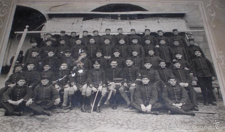 Militaria: Antigua gran Foto regimiento artilleria Alfonsino - Foto 2 - 60871571