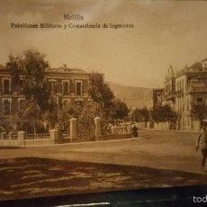 Militaria: POSTAL FOTOGRAFIA DE MELILLA COMANDANCIA DE INGENIEROS. Lote 61099539