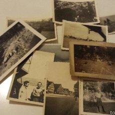 Militaria: LOTE DE 10 FOTOGRAFÍAS TOMADAS DURANTE LA SEGUNDA GUERRA MUNDIAL. Lote 61163091