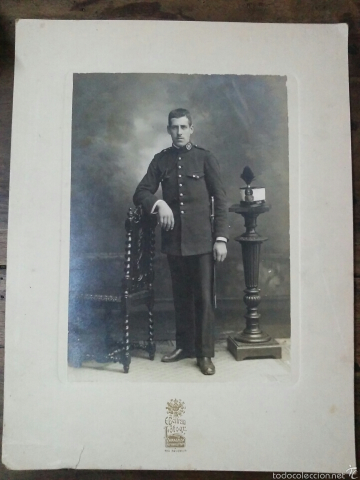 FOTOGRAFÍA SOBRE CARTÓN DE SOLDADO DE INTENDENCIA PP.S.XX ALFONSO XIII (Militar - Fotografía Militar - Otros)