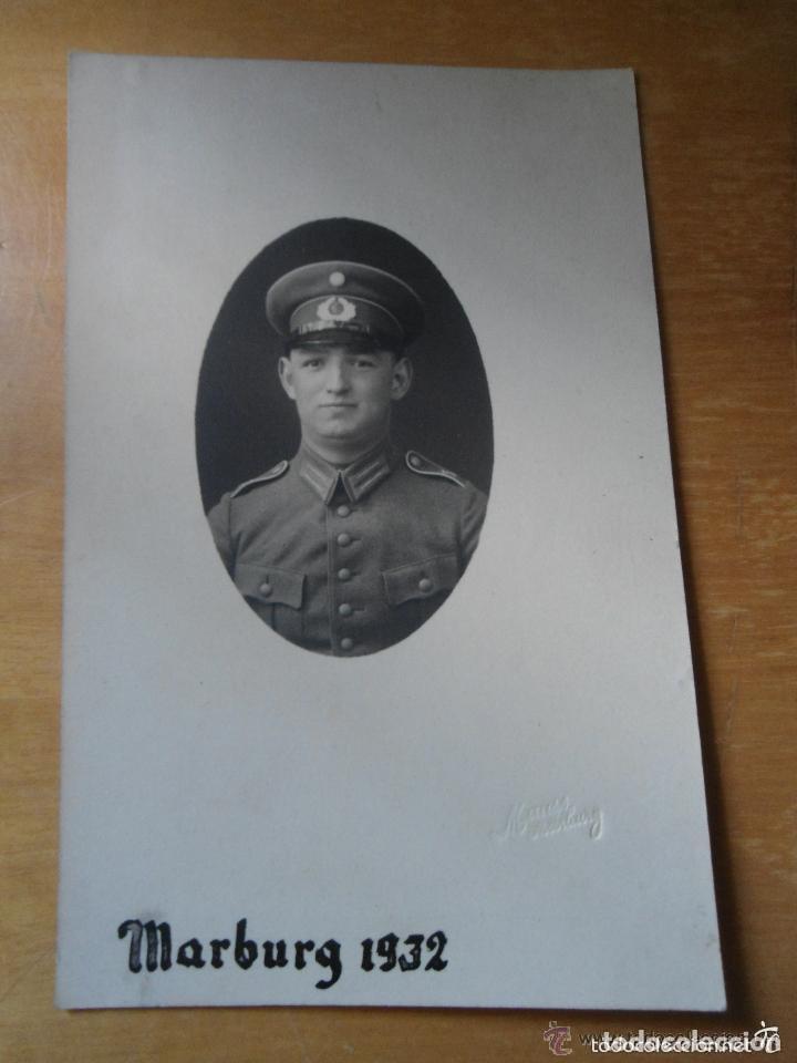 ANTIGUA FOTOGRAFIA MILITAR SOLDADO ALEMAN - I GUERRA MUNDIAL - MARBURG 1932 (Militar - Fotografía Militar - I Guerra Mundial)