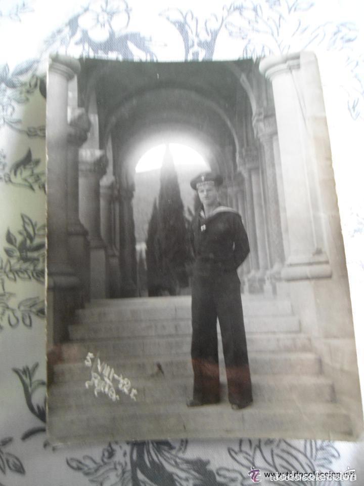 ANTIGUA FOTO SOLDADO ALEMAN MARINA TERCER III REICH - SEGUNDA GUERRA MUNDIAL (Militar - Fotografía Militar - II Guerra Mundial)