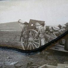 Militaria: FOTOGRAFÍA DE BATERÍAS OBUSES EN DAR DRIUS FEBRERO 1922. Lote 62259896