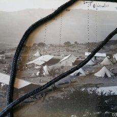 Militaria: FOTOGRAFÍA CAMPAMENTO DE LAS BATERÍAS DE ARTILLERÍA DE XAUEN GUERRA DE ÁFRICA. Lote 62260247