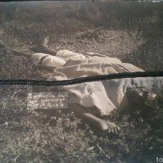 Militaria: FOTOGRAFÍA DE LA GUERRA DE ÁFRICA MORO MUERTO EN COMBATE DESASTRE DE ANNUAL. Lote 62336078