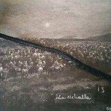 Militaria: FOTOGRAFÍA GUERRA DE ÁFRICA MEHALLAS PREPARADAS PARA ENTRAR EN COMBATE. Lote 62337818