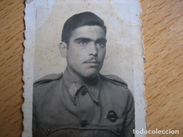 Militaria: Fotografía soldado automovilismo del ejército español. Conductor 1945 - Foto 3 - 62602380