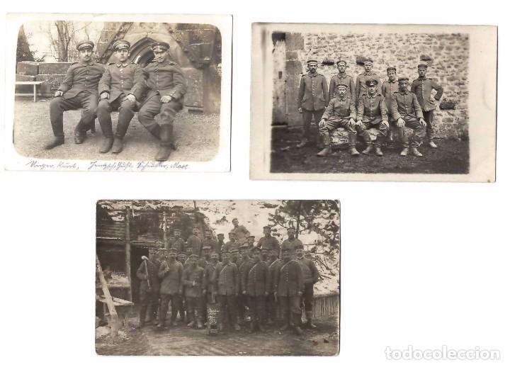 3 FOTOGRAFÍA POSTAL MILITAR WW1 PRIMERA GUERRA MUNDIAL SOLDADOS (Militar - Fotografía Militar - I Guerra Mundial)