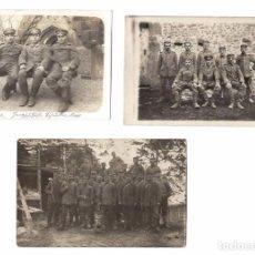 Militaria: 3 FOTOGRAFÍA POSTAL MILITAR WW1 PRIMERA GUERRA MUNDIAL SOLDADOS. Lote 63136012