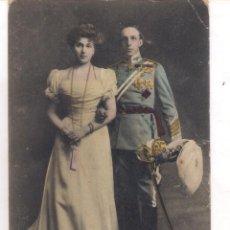 Militaria: POSTAL DE SS.MM. D. ALFONSO XIII Y Dª VICTORIA EUGENIA , REYES DE ESPAÑA .. Lote 63247340