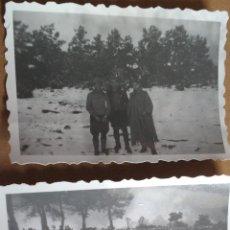 Militaria: DOS PEQUEÑAS FOTOGRAFIAS GUERRA CIVIL, FRENTE DEL PIRINEO 1938. Lote 63661343