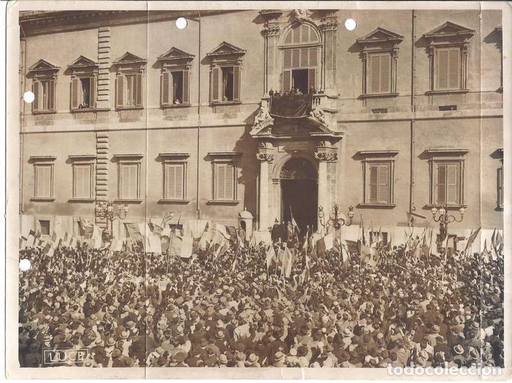 FG002 LOTE DE 2 FOTOGRAFÍAS DEL NACIMIENTO Y BAUTIZO DE VÍCTOR MANUEL DE SABOYA - 1937 (Militar - Fotografía Militar - Otros)