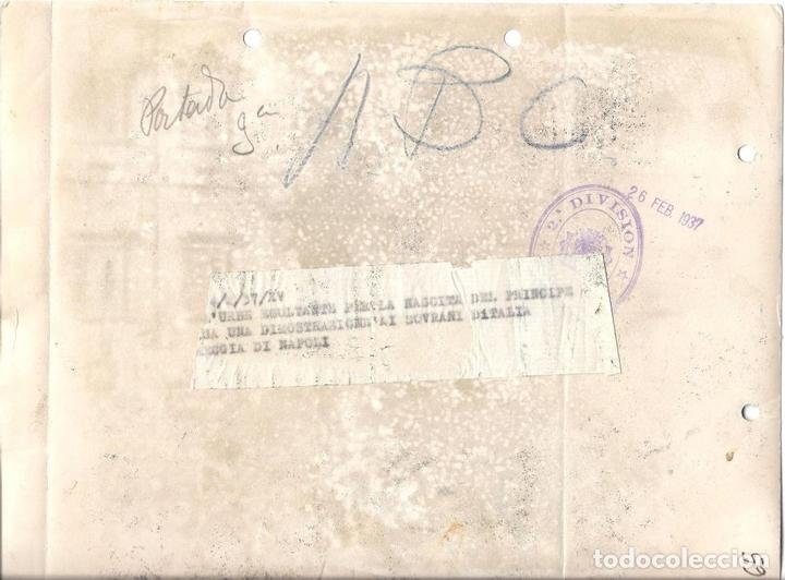 Militaria: FG002 LOTE DE 2 FOTOGRAFÍAS DEL NACIMIENTO Y BAUTIZO DE VÍCTOR MANUEL DE SABOYA - 1937 - Foto 4 - 43747391