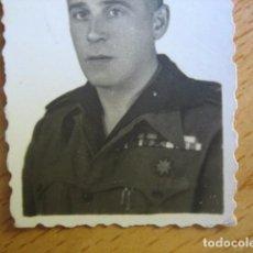 Militaria: FOTOGRAFÍA COMANDANTE HABILITADO FALANGISTA DEL EJÉRCITO NACIONAL.. Lote 64106119