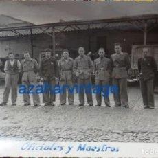 Militaria: MERIDA, GUERRA CIVIL, PARQUE AUTOMOVILISMO EJERCITO DEL SUR, OFICIALES Y MAESTROS,178X118MM. Lote 64440211
