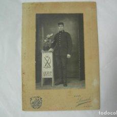 Militaria: ANTIGUA FOTO MILITAR DE ARTILLERIA AÑOS 20-30, FOTO LEONARDO - CADIZ. Lote 64486711