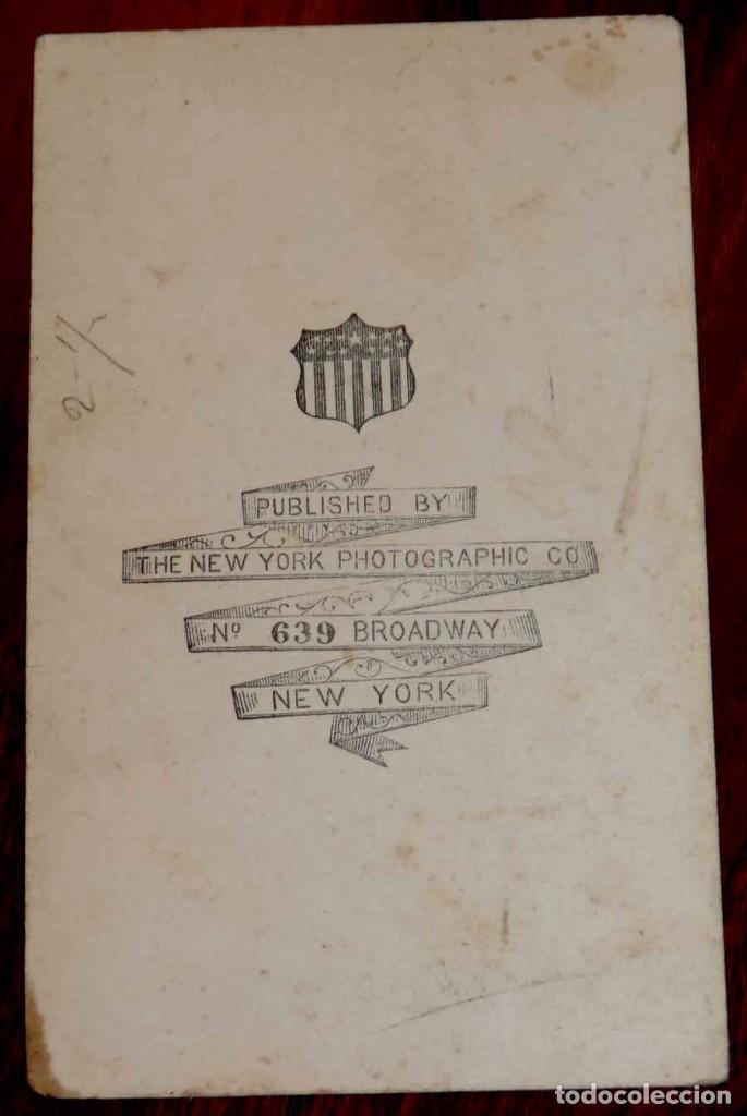 Militaria: Fotografia albumina tipo cdv del Rey Consorte FRANCISCO DE ASIS DE BORBON, esposo de la Reina de Esp - Foto 2 - 64834103