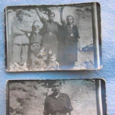 Militaria: RARO LOTE DE FOTOS DE FALANGISTAS CON UN SOLDADO DEL CTV ITALIANO. BATALLA DE GUADALAJARA. FALANGE.. Lote 65821678