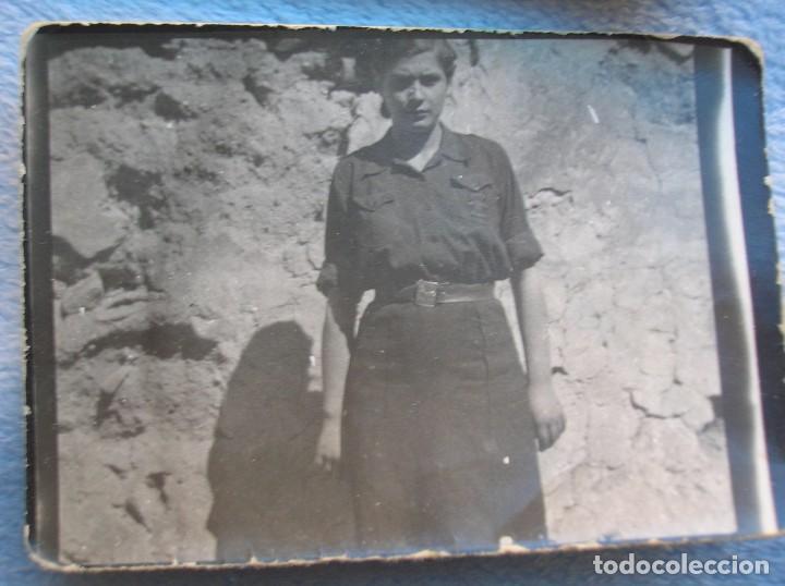 Militaria: RARO LOTE DE FOTOS DE FALANGISTAS CON UN SOLDADO DEL CTV ITALIANO. BATALLA DE GUADALAJARA. FALANGE. - Foto 4 - 65822090