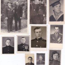 Militaria: LOTE DE 10 FOTOS ORIGINALES DE SOLDADOS RUSOS DE LA 2ª GUERRA MUNDIAL. . Lote 66746942