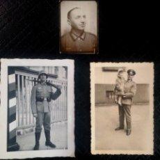 Militaria: LOTE DE 3 FOTOGRAFÍAS ORIGINALES DE MILITARES ALEMANES SEGUNDA GUERRA MUNDIAL , VER FOTOS. Lote 66815730