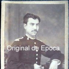 Militaria: (JX-161124) FOTOGRAFÍA DE OFICIAL DE INGENIEROS , REALIZADA EN FOTOGRAFÍA COYNE , ZARAGOZA. Lote 66974978