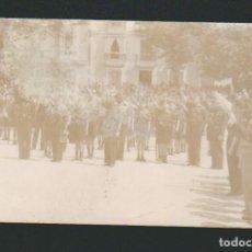 Militaria: CÁDIZ.FALANGISTAS FORMADOS EN LA PLAZA DE SAN ANTONIO.GUERRA CIVIL ESPAÑOLA.POSTÁL FOTOGRÁFICA.. Lote 67334245