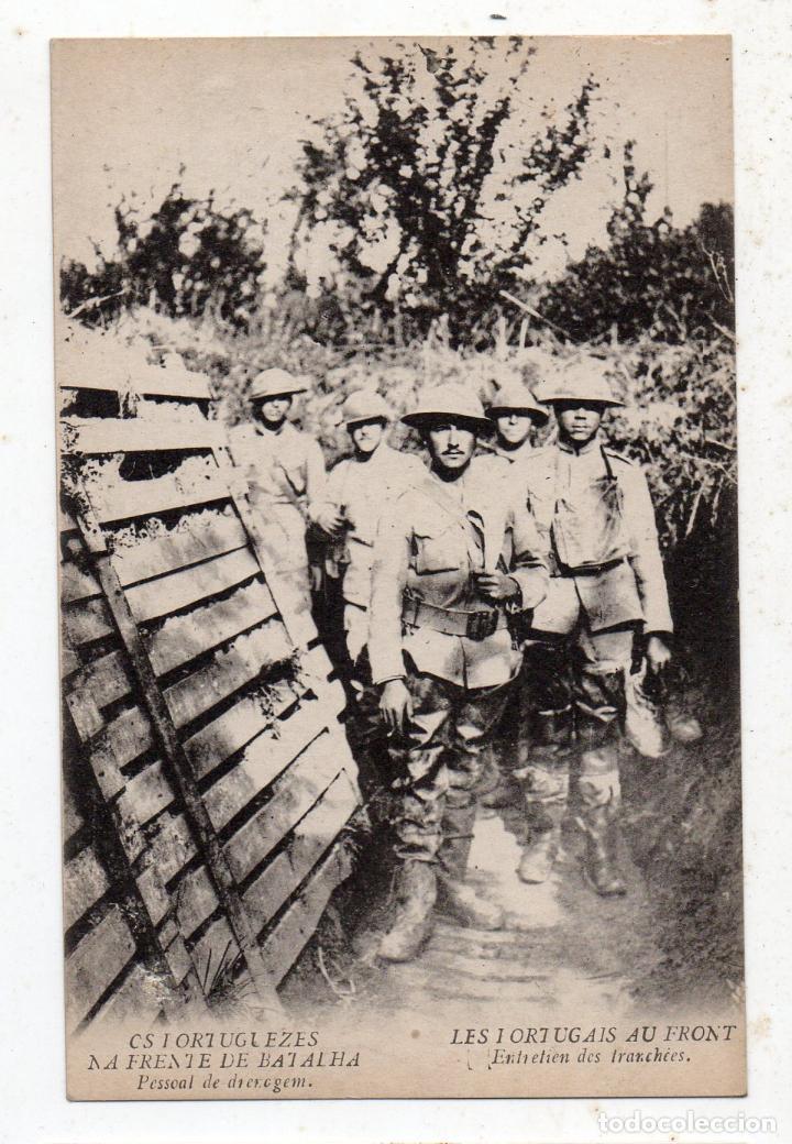 LOS PORTUGUESES EN EL FRENTE DE BATALLA. (Militar - Fotografía Militar - I Guerra Mundial)