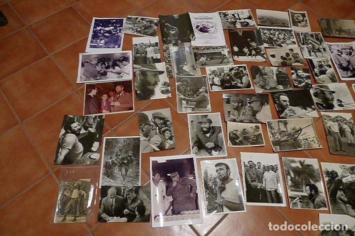 LOTE 55+ FOTOGRAFIAS DEL FOTOGRAFO JOSE OLLER OLLER DE FIDEL, CUBA, Y EL CHE, HACER OFERTA (Militar - Fotografía Militar - Otros)