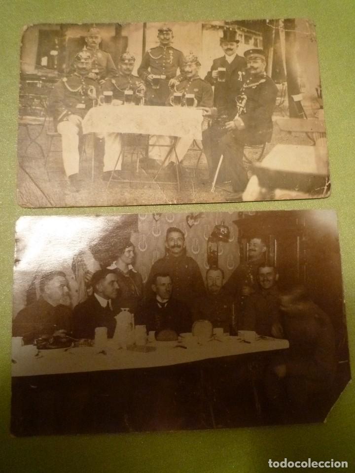 DOS FOTOS ALEMANIA. 1 GUERRA MUNDIAL. OFICIALES CON PICKELHAUBE (Militar - Fotografía Militar - I Guerra Mundial)