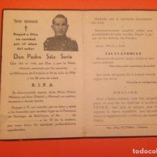 """Militaria: GUERRA CIVIL DE ESPAÑA"""" ESQUELA SOLDADO. Lote 69773885"""