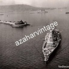 Militaria: WWII, ESPECTACULAR FOTOGRAFIA DEL NAVIO INGLES, H.M.S.DUKE OF YORK, 214X158MM. Lote 70033541
