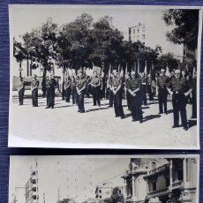 Militaria: 2 ANTIGUAS FOTOGRÁFIAS DE FALANGISTAS. DESFILE CELEBRACIÓN Y RENDICIÓN TOMA DE MADRID. GUERRA CIVIL.. Lote 70080869