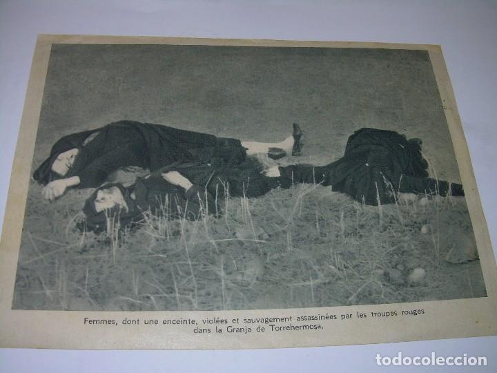 ANTIGUA FOTOGRAFIA EN PAPEL DE MUJERES VIOLADAS Y ASESINADAS EN LA GUERRA CIVIL. (Militar - Fotografía Militar - Guerra Civil Española)