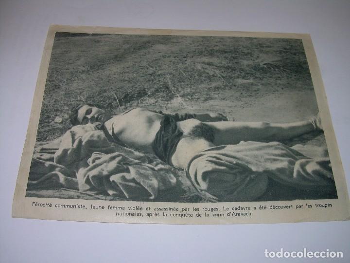 ANTIGUA FOTOGRAFIA DE PAPEL DE MUJER VIOLADA Y ASESINADA EN LA GUERRA CIVIL. (Militar - Fotografía Militar - Guerra Civil Española)