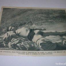 Militaria: ANTIGUA FOTOGRAFIA DE PAPEL DE MUJER VIOLADA Y ASESINADA EN LA GUERRA CIVIL.. Lote 72745079