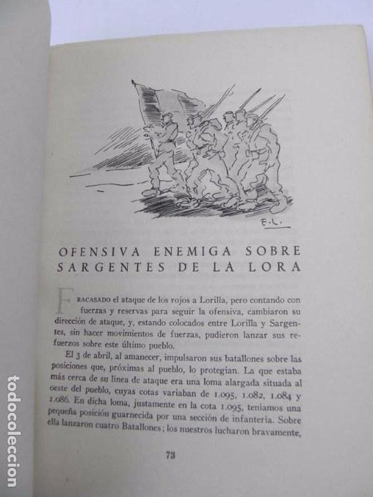 Militaria: LIBRO DEL ALTO EBRO A LAS FUENTES DEL LLOBREGAT, GUERRA CIVIL, 32 meses de guerra de la 62 división, - Foto 8 - 72756943