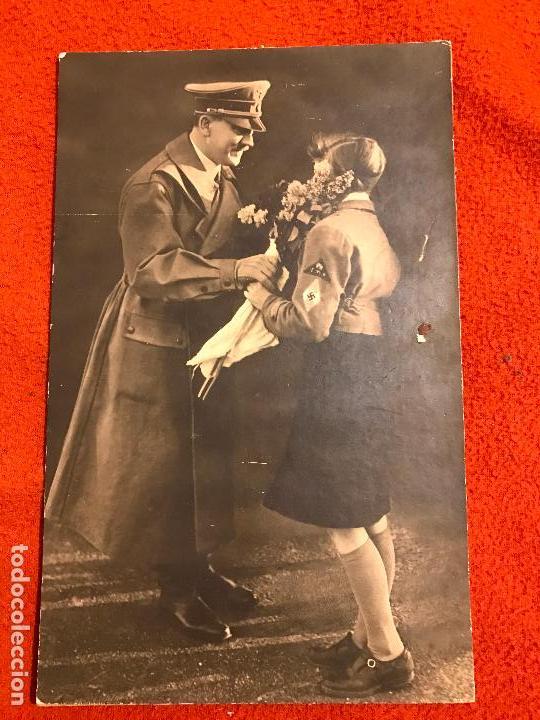 FOTOGRAFÍA ORIGINAL. ADOLF HITLER. TERCER REICH.BUND DEUTSCHER MÄDEL, FUHRER, NAZI (Militar - Fotografía Militar - II Guerra Mundial)