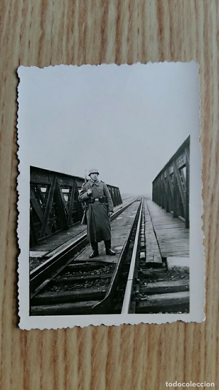 ANTIGUA FOTOGRAFIA. MILITAR NAZI DE GUARDIA, ALEMANIA (Militar - Fotografía Militar - II Guerra Mundial)